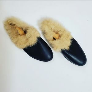 NWOT! Forever Womens Black Faux Fur Lined Slides